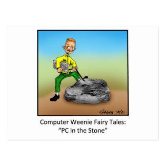Funny Computer Cartoon Gift! Postcard