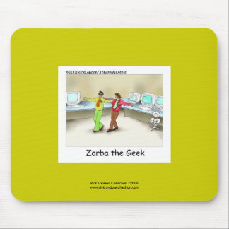 Funny Computer Geek Cartoon On Quality Mouse Pad Mousepads