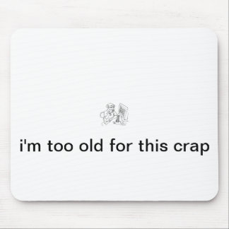 funny computer mouse for senior mouse pad