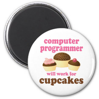 Funny Computer Programmer 2 Inch Round Magnet