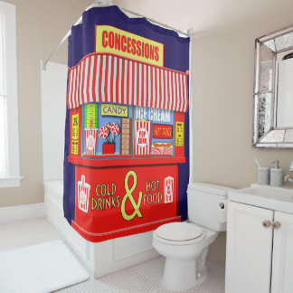 Funny Concessions Stand Food And Drinks Shower Curtain