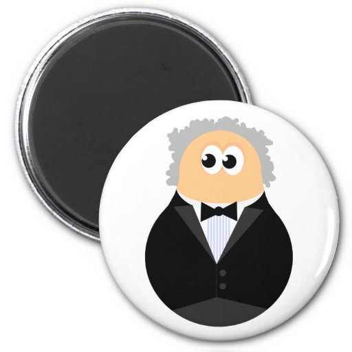 Funny Conductor 2 Inch Round Magnet