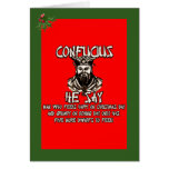 Funny Confucius Christmas Cards