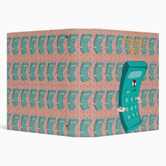 funny confused calculator 3 ring binder