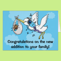 Funny congratulations new baby Stork Card