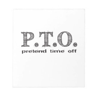 Funny Congratulations Promoted to Pretend Time Off Notepad