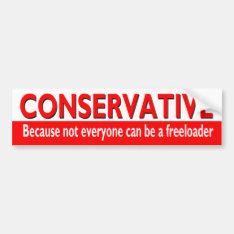 Funny Conservative Bumper Sticker at Zazzle