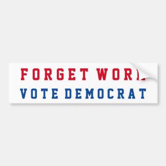 Funny Conservative Republican | Anti-Democrat Bumper Sticker