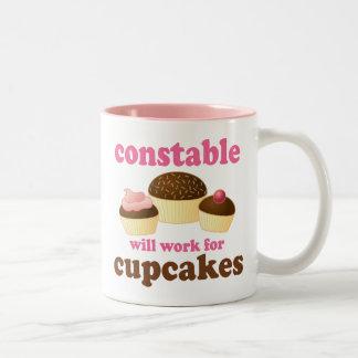 Funny Constable Two-Tone Coffee Mug
