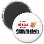 Funny Constipated Chicken 2 Inch Round Magnet