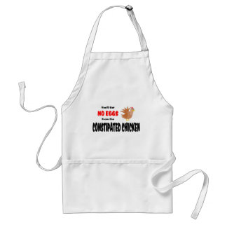 Funny Constipated Chicken Apron
