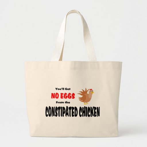 Funny Constipated Chicken Canvas Bags