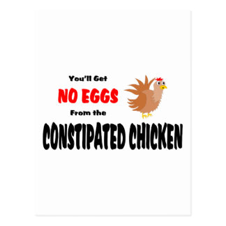 Funny Constipated Chicken Post Card