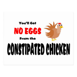 Funny Constipated Chicken Postcard