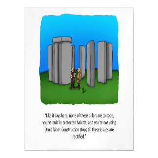 Funny Construction Humor Magnetic Card