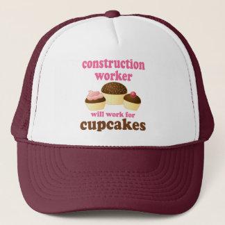 Funny Construction Worker Trucker Hat