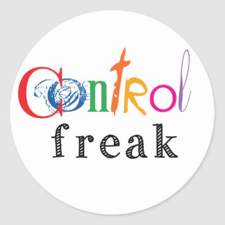 Funny Control Freak Gifts Classic Round Sticker