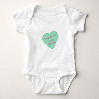 Funny conversation heart: Valentine's Day sucks! Baby Bodysuit