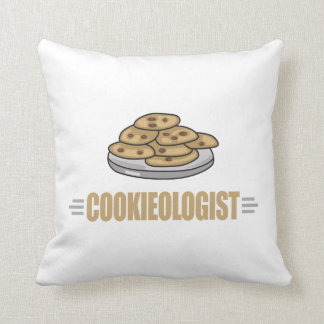 Funny Cookie Lover Throw Pillow