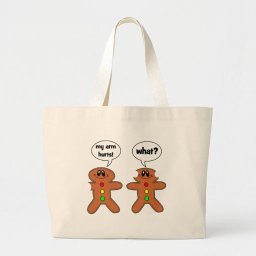 funny cookies large tote bag