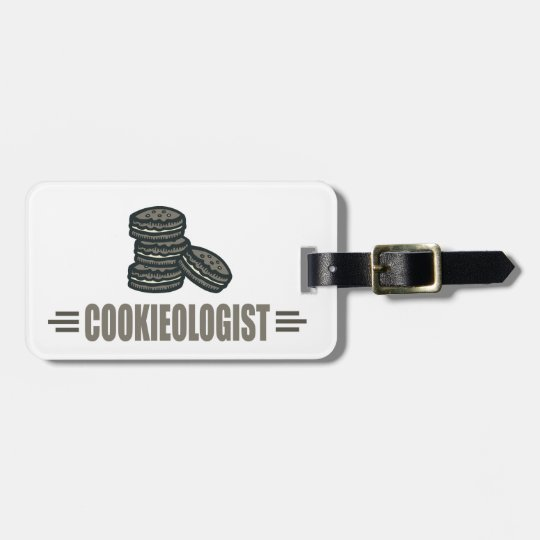 Funny Cookies Luggage Tag