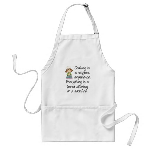 Funny Cooking Is A Religious Experience Aprons