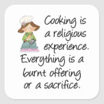 Funny Cooking Is A Religious Experience Stickers