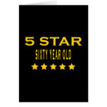 Funny Cool 60th Birthdays Five Star Sixty Year Old Card