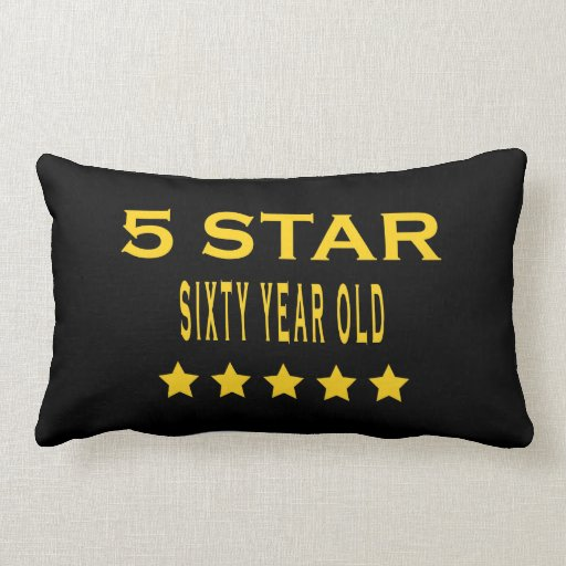 Funny Cool 60th Birthdays Five Star Sixty Year Old Throw Pillow