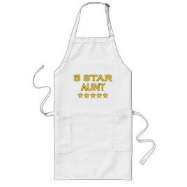 Funny Cool Aunts : Five Star Aunt Long Apron