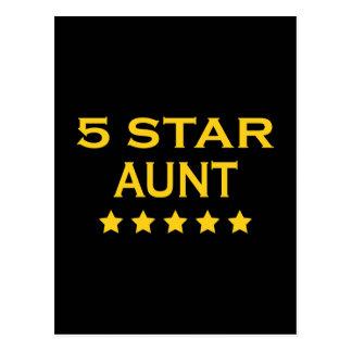 Funny Cool Aunts : Five Star Aunt Postcard