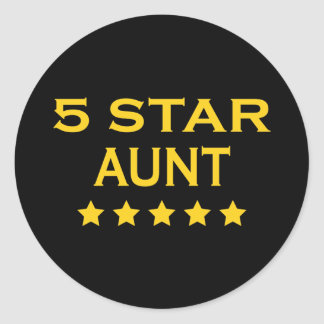 Funny Cool Aunts : Five Star Aunt Classic Round Sticker