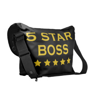 Funny Cool Bosses Five Star Boss Messenger Bag