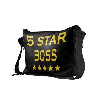 Funny Cool Bosses Five Star Boss Messenger Bags