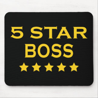 Funny Cool Bosses : Five Star Boss Mouse Pad