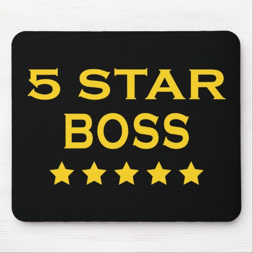 Funny Cool Bosses : Five Star Boss Mouse Pads