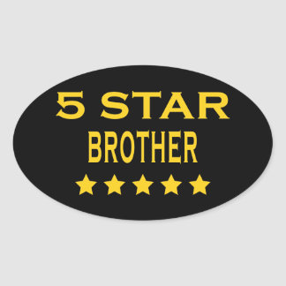 Funny Cool Brothers : Five Star Brother Stickers