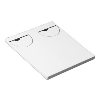 funny cool cartoon eyes smiley memo pads