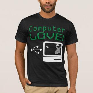 Funny Cool Computer LOVE! Custom Art Geek T Shirt