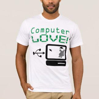 Funny Cool Computer LOVE! Custom Geek T Shirt