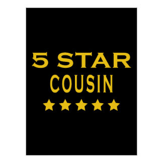 Funny Cool Cousins Five Star Cousin Poster