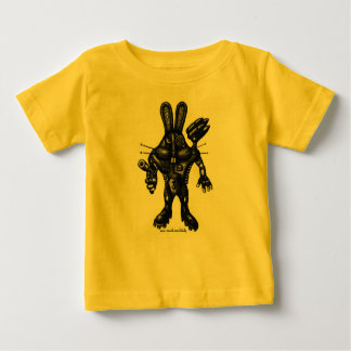 Funny cool cyborg bunny baby t-shirt