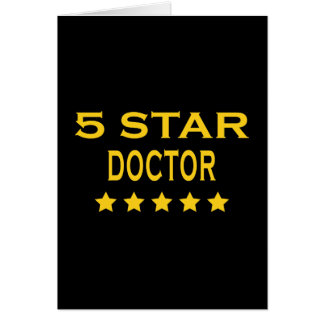 Funny Cool Doctors Five Star Doctor Card