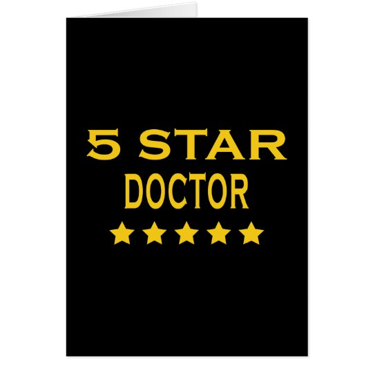Funny Cool Doctors : Five Star Doctor Card
