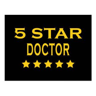 Funny Cool Doctors : Five Star Doctor Postcard