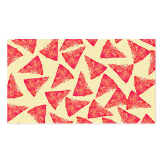 Funny Cool Funky Pizza Pattern Business Card