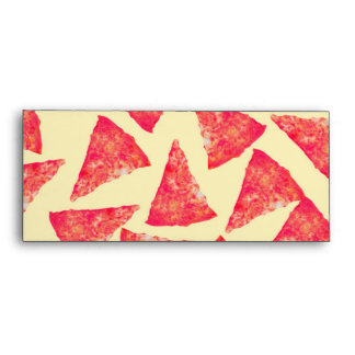 Funny Cool Funky Pizza Pattern Envelope