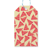 Funny Cool Funky Pizza Pattern Gift Tags