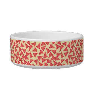 Funny Cool Funky Pizza Pattern Cat Food Bowl