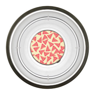 Funny Cool Funky Pizza Pattern Pet Bowl